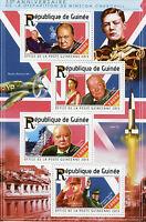 Guinea 2015 MNH Winston Churchill 50th Memorial 4v M/S Charles De Gaulle Stamps