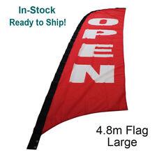 4.8m OPEN Flag / Outdoor Advertising Banner Flag (Excl. Pole & Base)-Ship Today!