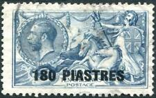 BRITISH LEVANT-1921 180 pi on 10/- Dull Grey-Blue Sg 50 GOOD USED V22531