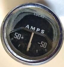 VINTAGE LUCAS 50 AMP AMMETER GAUGE - Classic Car Austin Mini Morris MG Dashboard