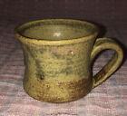 Stoneware+Thick+Handle+mug+Pottery+Handmade+Coffee%2FTea+cup+6oz+Glazed+%26+Signed