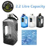 2.2L Diamond Cut Drink Bottle Plastic Sports Camping Water Drinking Hydration