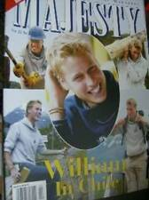 Majesty Magazine V22 #2 William In Chile (12 Page Feature), Royals At Christmas,