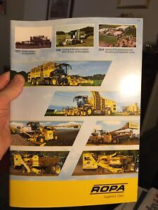 Ropa Tiger Panther Maus sugar beet harvester tractor brochure