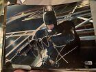 Beckett certified Christian Bale Dark Knight Batman Joker photo 11x14 DC Signed