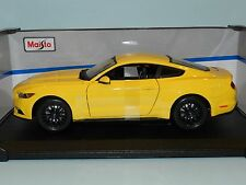 Maisto Special Edition 1/18 2015 Ford Mustang Yellow MIB