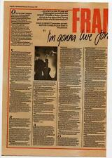 Aztec Camera Roddy Frame Interview NME Cutting 1984