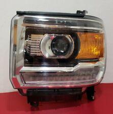 2014-2018 GMC SIERRA 1500 LEFT DRIVER HALOGEN LED HEADLIGHT OEM USED#3