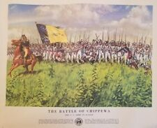 Vintage Poster: History of the US Army: #3 THE BATTLE OF CHIPPEWA