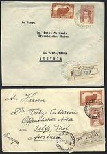 ARGENTINA 1930's FOUR COVERS TO EUROPE TWO ARE REGISTERED TO AUSTRIA