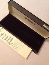 VINTAGE EMPTY PARKER PEN BOX-VERY GOOD CONDITION-BOX & GUARANTEE ONLY.