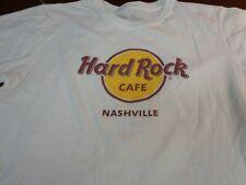 HARD ROCK Cafe NASHVILLE  Logo T-SHIRT White  Size Womens Large Tee   B4