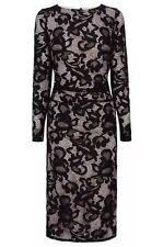 BNW🎀Coast🎀Size 10 CORALLA BLACK Mono FLORAL LACE PENCIL DRESS (38EU, 6US) New