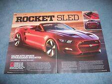 "2015 Mustang GT Custom Galpin Auto Sports Speedster Article ""Rocket Sled"""