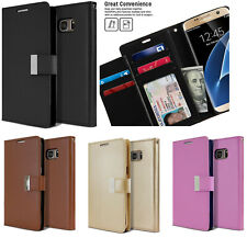 for SAMSUNG GALAXY S7 EDGE -Leather Multi Card ID Wallet Pouch Holder Case Cover