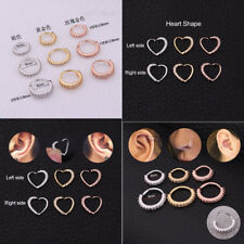 CZ Gems Nose Ring Hoop Snug Earring Helix Cartilage Tragus Piercing Jewelry Gift
