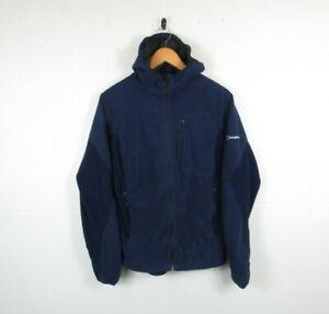 Womens Berghaus Fleece Hooded Windstopper Jacket Blue Hardshell Size 16 UK VGC