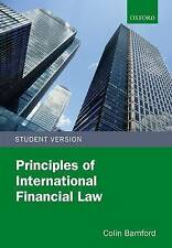 Principles of International Financial Law by Bamford, Colin