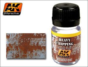 AK WEATHERING - HEAVY CHIPPING EFFECTS ACRYLIC FLUID 35ml
