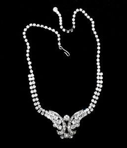 Zierliches Strass Collier · Crystal/Kristallklar · Gablonz/Böhmen · #828