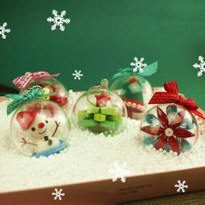 DIY Quilling Paper Christmas Ball Material Kits Package Snowflake Ornaments Set