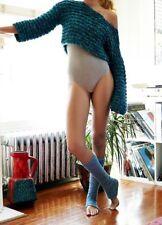 Free People Shakedown Knit Leg Warmers Blue Confetti One Size NWT $24