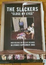"""The SLACKERS promotional CLOSE MY EYES LP release 11"""" x 17"""" POSTER 2003 HellCat"""
