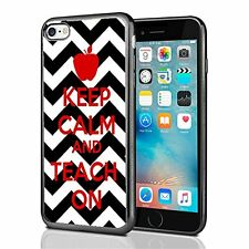 Keep Clam And Teach On Chevron For Iphone 7 (2016) & Iphone 8 (2017) Case Cover