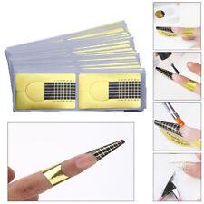 50 Pcs Nail Art Form Sticker Nail Extension Guide Acrylic Tips UV Gel Builder