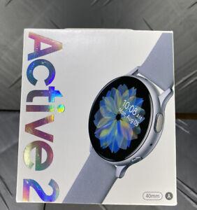 Samsung Active 2 Smart watch 40mm Cloud Silver SM-R830NZSCXAR Bundle ✌️
