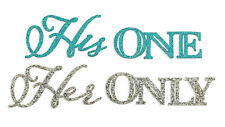 His One and Her Only Shoe Stickers Wedding Supplies Wedding Shoes Stickers