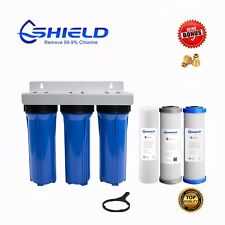 Triple Caravan Boat RV Camp Van  Water Filter System Max Chemical Removal