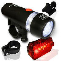 5 LED Fahrradbeleuchtung Set Fahrradlampe Fahrradlicht Zubehör Fahrradleuchte