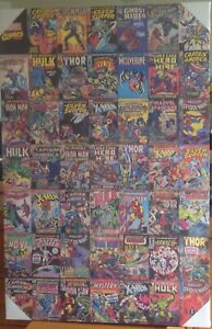 Marvel Comics Covers Canvas 90 x 60 cm