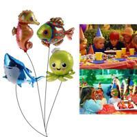 Aluminium Foil Balloon Helium Balloons Shark Octopus Fish Birthday Party Decor