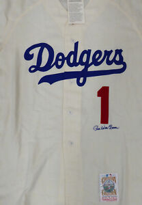 Dodgers Pee Wee Reese Autographed Mitchell & Ness Jersey Steiner Holo 160549