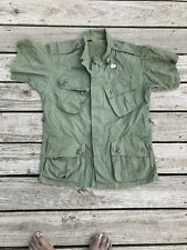 Vietnam 1963 Tropical Combat Jungle Jacket Shirt - 1st pattern - Short Small