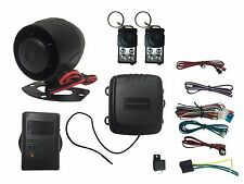 4 Channel HornBlasters Car Alarm System With Shock Sensor/Slide Remote
