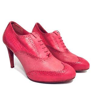 Cole Haan Lucinda Air Oxford Bootie Size 8.5 B Pink Fuchsia Heel Pump