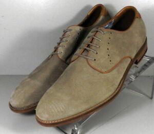 205812 SP50 Men's Shoes Size 9 M Beige Suede Lace Up Johnston & Murphy