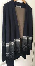 Cardigan von CECIL Degrade Stripe Cardigan Size S graublau im Farbverlauf