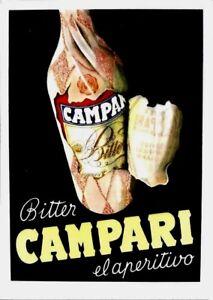 Original vintage poster print CAMPARI BITTER APERITIF 1948