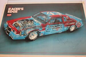 """Kyle Petty Signed Autographed 24"""" X 16"""" 1983 RACERS EDGE Poster Guaranteed"""
