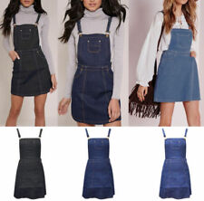 Denim Pinafore/Dungaree Dresses for Women