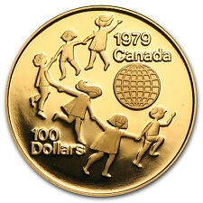1979 Canada 1/2 oz Proof Gold $100 Year of the Child - SKU #35693