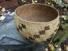 Antique Early 1900's California Hupa Indian Basket w/ Provenance Note