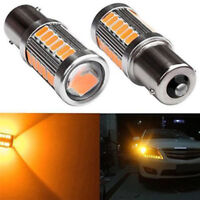2PCS Amber P21W 1156 BA15S LED Bulb 5730 SMD Super Bright Car Light bulBB