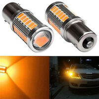 2PCS Amber P21W 1156 BA15S LED Bulb 5730 SMD Super Bright Car Light bulbITH