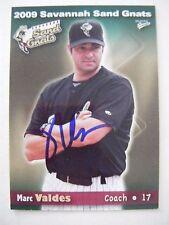 MARC VALDES signed 2009 SAVANNAH baseball card AUTO FLORIDA GATORS EXPOS MARLINS