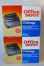 2 Office Depot Remanufactured Laser Toner Cartridges Hp Q1338A Laserjet 4200
